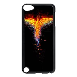 iPod Touch 5 Case Black Fire Phoenix suwt