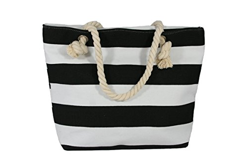 Strandtasche Marine schwarz CvAs3Fc1v