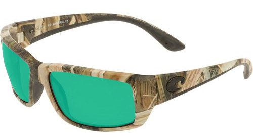 Costa Del Mar Fantail Sunglasses, Mossy Oak Shadow Grass Blades Camo, Green Mirror 580 Plastic - Sunglasses Blade