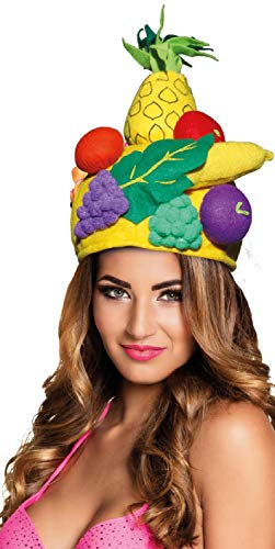 Mens Ladies Tropical Fruit Carmen Miranda Summer Festival Carnival Fancy Dress Costume Outfit Hat -