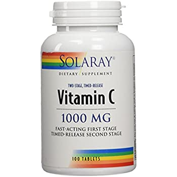 Solaray C Two Stage Timed Release Supplement, 1000mg, 100 Count