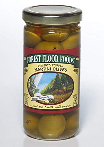 Olives Stuffed Pimiento (Forest Floor Foods Pimiento Stuffed Martini Olive, 8 Ounce)