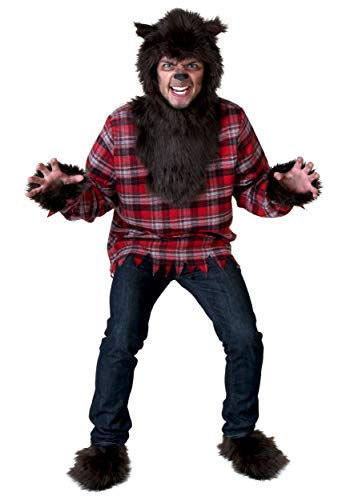 Werewolf Costume Adult Fierce Werewolf Costume for Men Standard Brown ()
