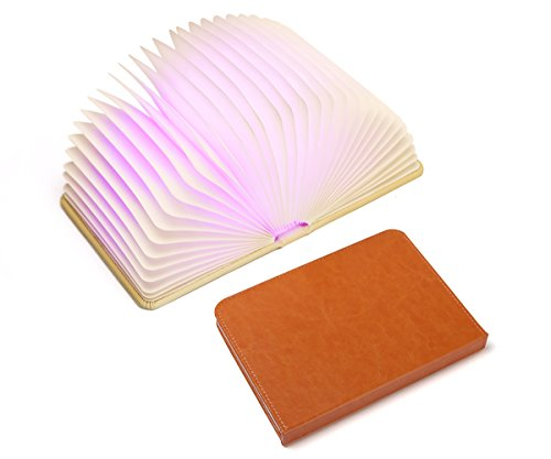 LED Light - Open the Cover to Enjoy Bright LED Illumination Rechargeable Unique Gift Idea LPLEDBF210-Brown ()