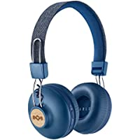 House of Marley Positive Vibration II Wireless Headphones – Long Battery Life, Comfortable On-Ear Design and Premium Sound, EM-JH133-DN Denim