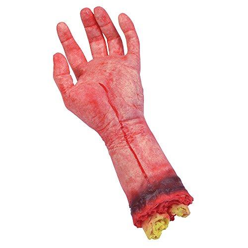 Bristol Novelty GJ019 Bloody Hand Halloween Prop Set, Red, One Size