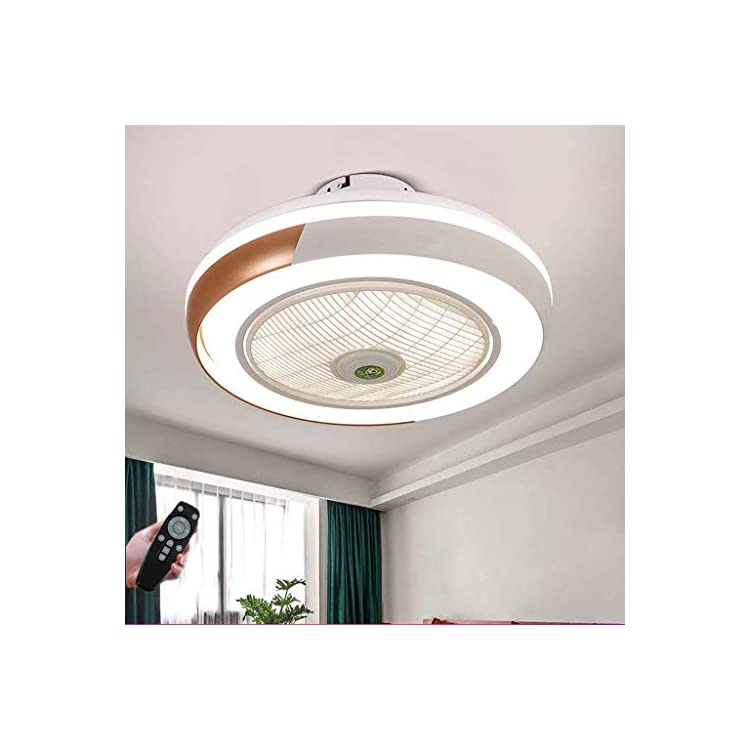Ceiling Fans with Lighting 40W Creative Invisible Fan Led Ceiling Light Remote Control Dimmable Ultra-Quiet Can Timing…