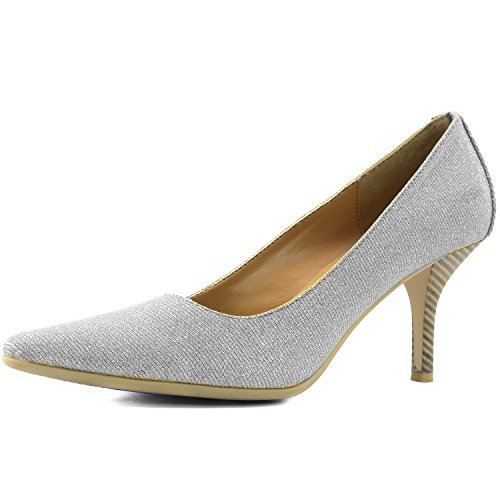 - DailyShoes Women's Comfortable Ponited Toe Non-Slip High Heel Pump Shoes, 8.5