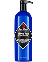 Jack Black All-Over Wash For Face, Hair & Body, 33 Fl Oz