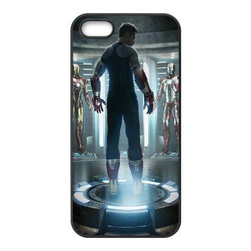 901 Iron Man Armor L coque iPhone 5 5S cellulaire cas coque de téléphone cas téléphone cellulaire noir couvercle EOKXLLNCD21130