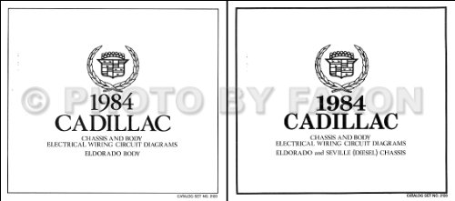 Cadillac Eldorado Diesel - 1984 Cadillac Eldorado Diesel Foldout Wiring Diagrams Original Color Set