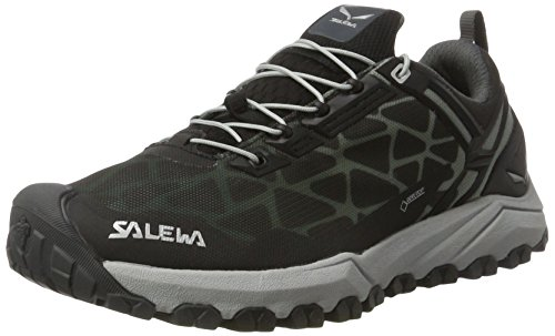 Salewa Women's Multi Track GTX Speed Hiking Shoe, Black/Silver, 8.5