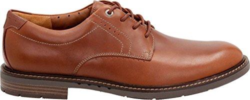 Clarks Mens Unelott Plain Oxford Tan Leather