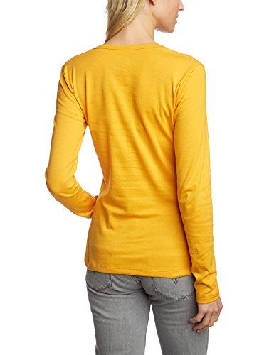 Trigema - Camisa de manga larga para mujer Amarillo (goldlack 066)