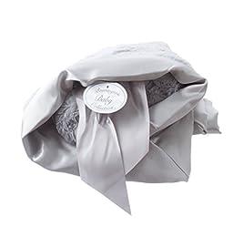 Bearington Baby Silky Soft Crib Blanket Elephant
