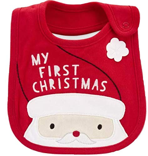 """Carter's Just One You""""My First Christmas"""" Teething Bib"""