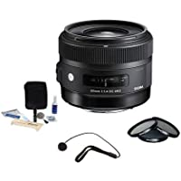 Sigma 30mm f/1.4 DC HSM ART Lens for Canon EOS DSLR Cameras - USA Warranty - Bundle with Pro Optic 62mm Filter Kit, Flashpoint CapKeeper Lens Cap Leash and Adorama Cleaning Kit for Optics and Cameras
