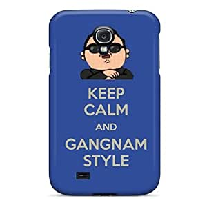 DaMMeke Case Cover For Galaxy S4 - Retailer Packaging Keep Calm And Gangnam Style Psy 2 Protective Case