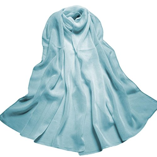 Scarf Shawl HCFKJ Lady Lightweight Elegant Blanket For Evening Dresses Gradient Color Long Wrap 160CMx50CM (Sky - Fair Shops Erina