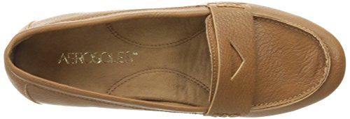 Aerosoles Womens Drive In Penny Loafer Dark Tan