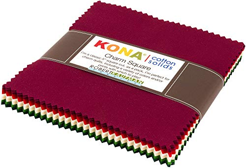 Kona Cotton Holiday Palette 42 5-inch Squares Charm Pack Robert Kaufman CHS-730-42 - Holidays Cotton Quilt Fabric