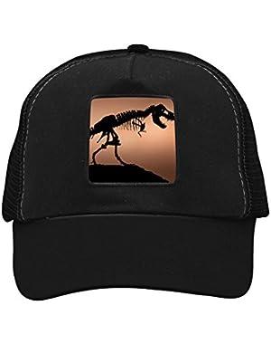 Unisex Dinosaur Skull Skeleton Adjustable Classic Hiphop Hat Baseball Cap Snapback Dad Hat