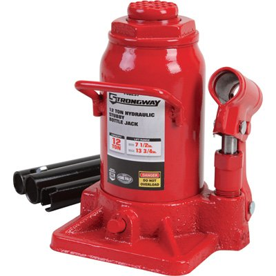 Strongway Hydraulic Stubby Bottle Jack - 12-Ton Capacity, 7 1/2in.-13 3/4in. Lift Range CECOMINOD076162