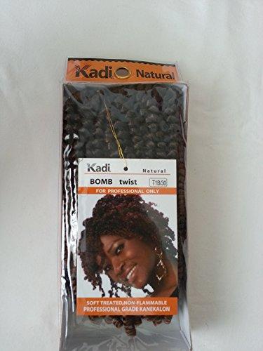 kadi natural braiding style  hair extension  professional grade kanekalon  t1b  30