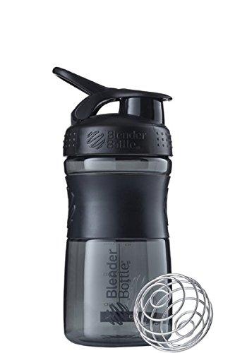 BlenderBottle SportMixer Tritan Grip Shaker Bottle, Transparent Black/Grey, - Transparent Transparent Black