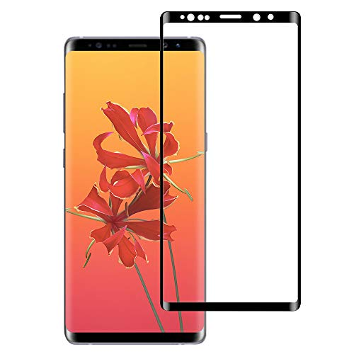 Galaxy Note 9 Screen Protector【Case Friendly】 3D Full Screen Coverage Tempered Glass [Bubble-Free] [9H Hardness] [Anti-Scratch] (Black)