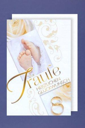 Glückwunschkarte Hochzeit Und Taufezur Traufe Herzlichen