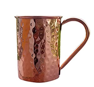 STREET CRAFT Drinkware Accessories Hammered Copper Moscow Mule Mug 16 Oz