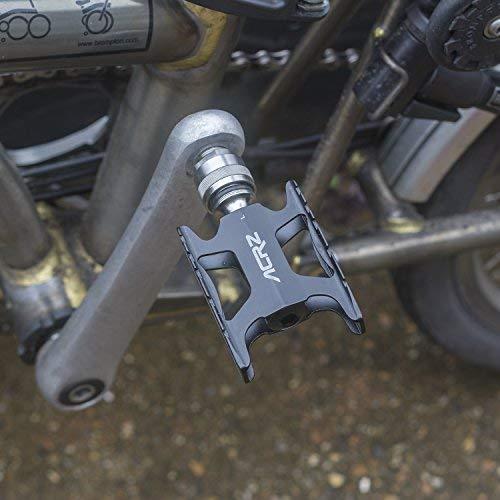 ACRZ Titanium QuickTitanium Quick Release Pedals for Brompton Ultra Lightweight 155g Pair Black Pedals-BL