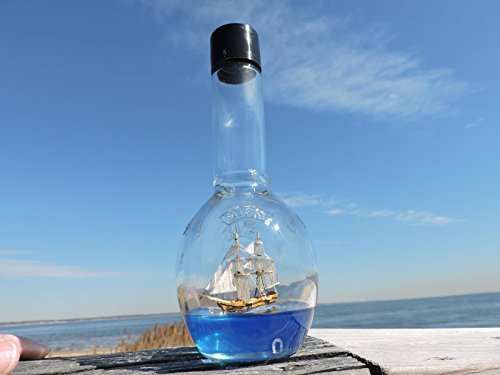 (Brig - Ship in a Bottle - Sailing on a Blue)