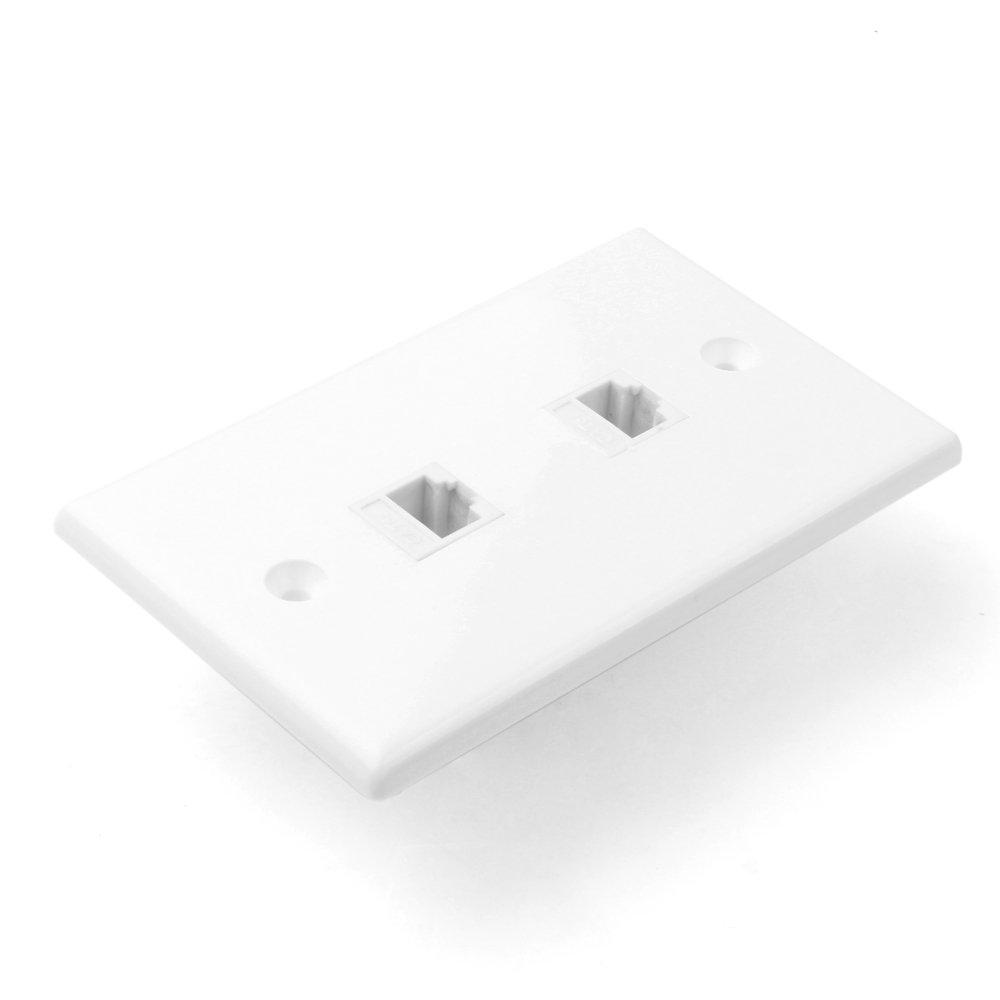 Schema Cablaggio Rete Lan Domestica : Tnp rete ethernet rj45 faceplate wall plate dual port 2 rj45