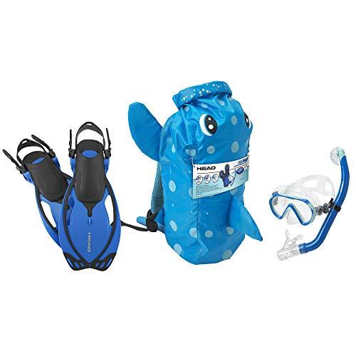 HEAD Mares Sea Pals Character Kids Mask Fin Snorkel Set, Blue, -