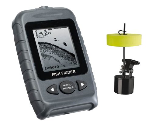 Signstek FF-009 Portable Fish Finder FishFinder With Round Sonar Sensor LED Backlight Fish Finders And Other Electronics