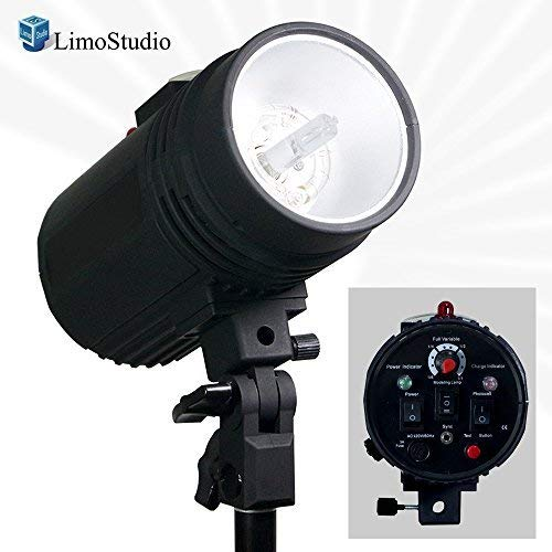 LimoStudio Flash Strobe Light 200 Watt, Sync Cord, Fuse, Test Button, Wireless Triggering Available, Umbrella Input, Mount on Light Stand, Professional Photography Use, Photo Studio, -