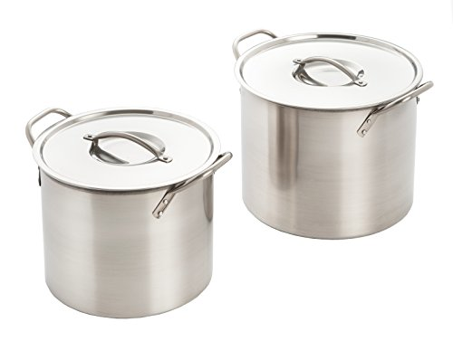 Excelsteel Set Of 2 Stainless Steel Stockpot With Lids