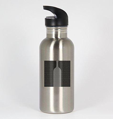 Neutral Wine #102 - Funny Humor 20oz Silver Water Bottle