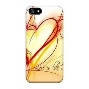 Iphone 5/5s Case Bumper Tpu Skin Cover For Love Is Like Music Accessories