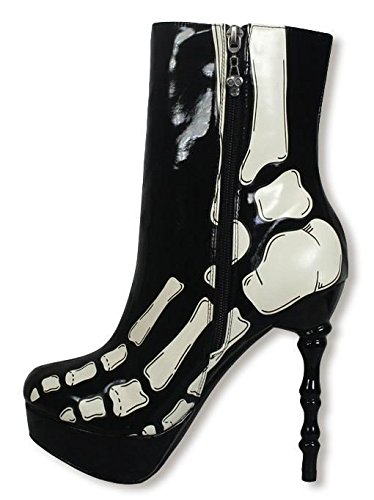 10 US 8 UK Skeletal Shop Boots Horror nqwYTRpU8
