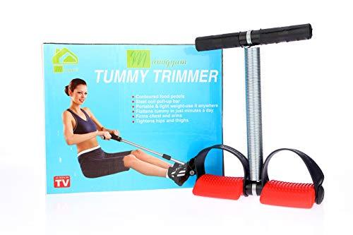 Manogyam Sttr 01 Stainless Steel Single Spring Tummy Trimmer Abs Exerciser Waist Trimmer  Red