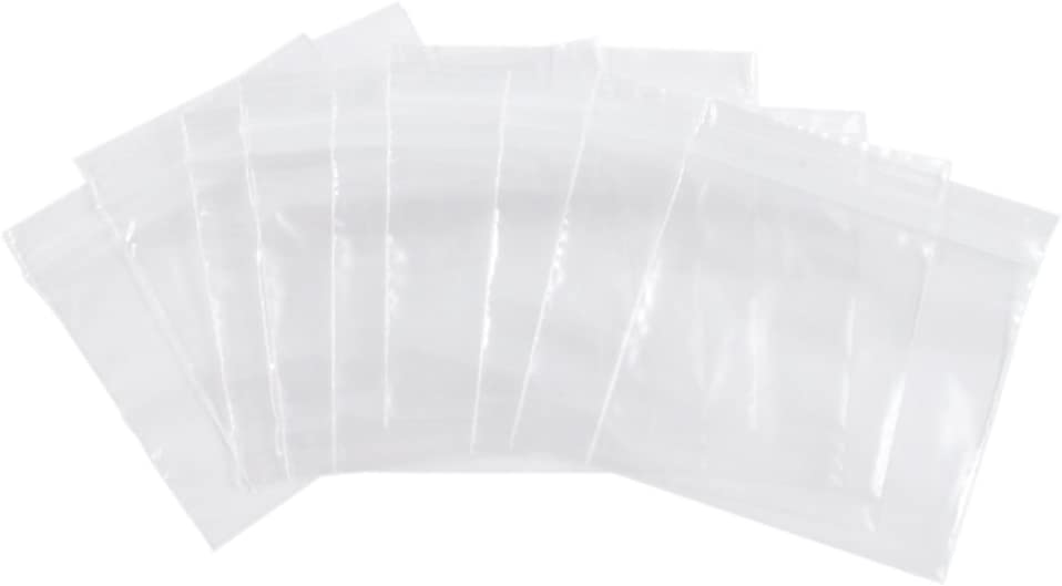 Dazzling Displays 3 x 3 Resealable 2 Mil Poly Bags (100-Pack)