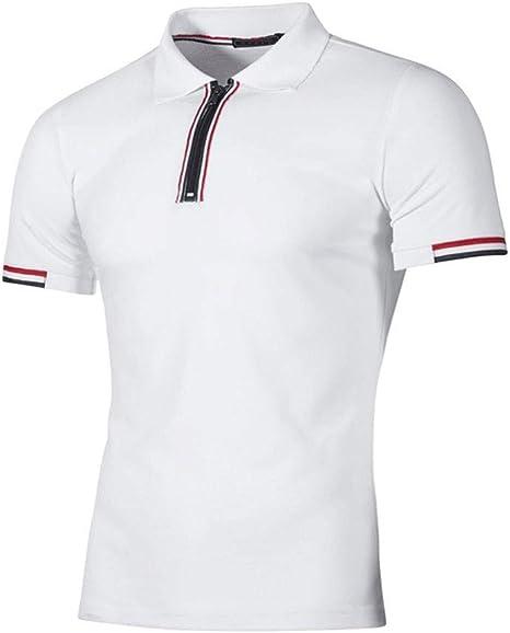 NISHISHOUZI Polo,Los Hombres Polo Shirt Hombres Casual Hombres ...