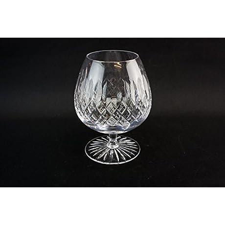 6 Cut Crystal Table Crosshatch Tudor Brandy Eggnog WHISKY GLASSES Vintage Retro Robust Large Unique Gift English Late 20th Century LS