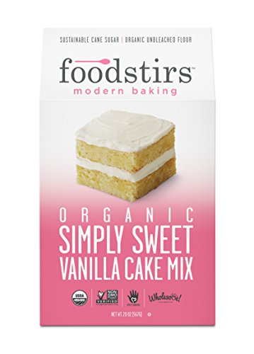 Sweet Vanilla Cake (Foodstirs Organic Simply Sweet Vanilla Cake Mix 20 Ounce,  (Pack of 3))