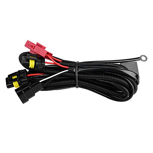 HID Wiring Harness, 9005/9006 Auto Relay Xenon Lamp Wiring Harness 12V 55W: