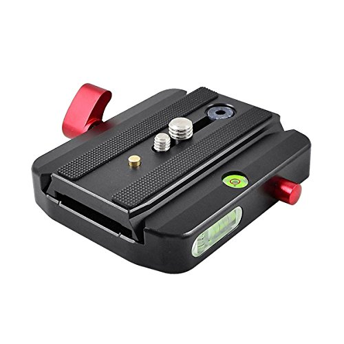 MENGS M-577 Quick Release Adapter + Slide Plate Aluminum Alloy For DSLR Camera and Manfrotto 558B and MVMXPROA4577 Monopod Compatible with Manfrotto 501PL, 501PLONG by MENGS
