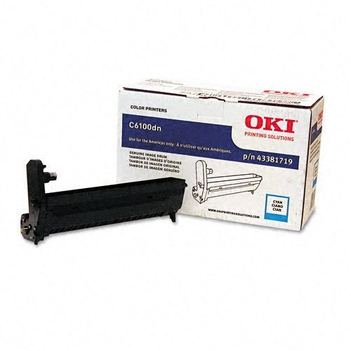 OKI Data 43381719 Cyan Image Drum for C6100/C6150/C5550n MFP/MC560MFP Type C8 Printers by Oki (Mfp Drum)